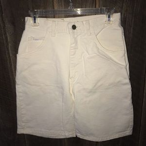 Women's vintage high waisted shorts Lee off white